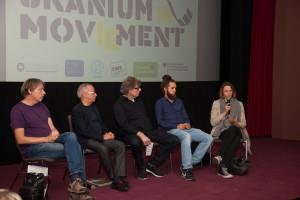 von links: Experten Henk van der Keur und Prof. Manfred Mohr, Moderator Heiner Bücker, Journalisten Marius Münstermann, Tatjana Mischke