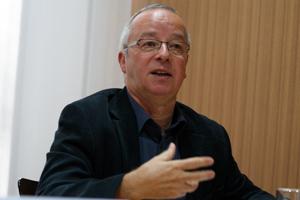 Prof. Manfred Mohr, ICBUW, 2012. Foto: Xanthe Hall